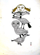 Birds and Woman's Face